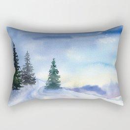 Frosty morning Rectangular Pillow