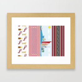 Kuwait Patterns Framed Art Print