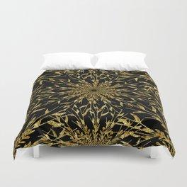 Black Gold Glam Nature Duvet Cover
