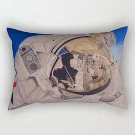 Astronaut in space, man. Rectangular Pillow