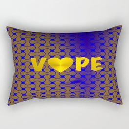 Florescent Blue Yellow Retro Vape Heart  Rectangular Pillow