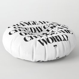 Buddha One Moment Quote Floor Pillow
