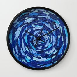 dark blue abstract Wall Clock