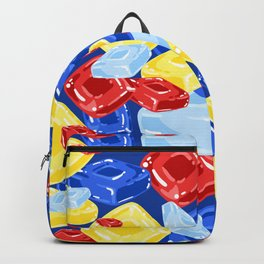 Square Hard Candy on Dark Blue Backpack