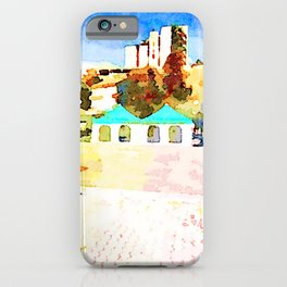 L'Aquila: buildings, prefabricated and curtains iPhone Case