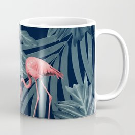 Summer Flamingo Jungle Night Vibes #1 #tropical #decor #art #society6 Coffee Mug