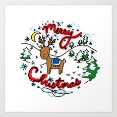 Reindeer Fun Art Print