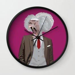 Baboon wearing William Fioravanti Wall Clock