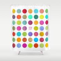 joy Shower Curtains featuring Joy by Elisabeth Fredriksson