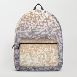 Champagne and Gray Glitter Ombre Backpack