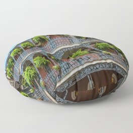Southern Style - Hanging Ferns in French Quarter New Orleans Floor Pillow