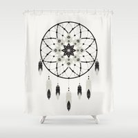 dreamcatcher Shower Curtains featuring Dreamcatcher by Bohemian Gypsy Jane