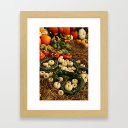 Autumn Time Harvest Time Framed Art Print