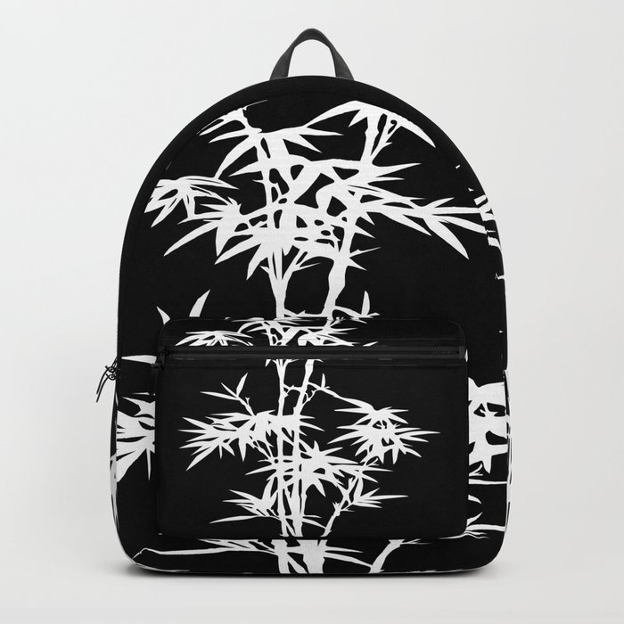 Black and White Bamboo Silhouette Backpack