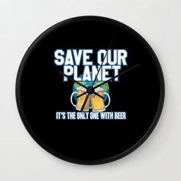 Environmental Protection Beer Wall Clock