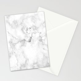 Marble White Grey Pattern Stationery Cards