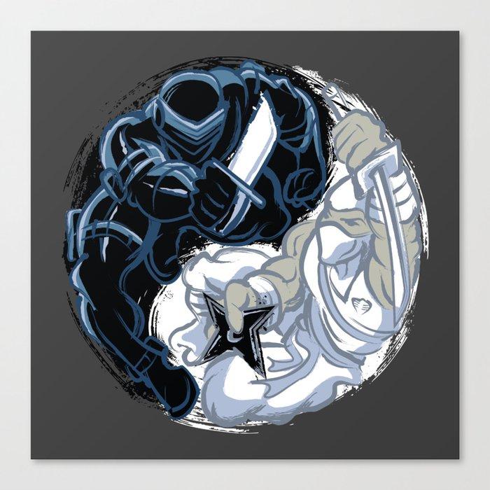 Snake Eyes/Storm Shadow  Canvas Print