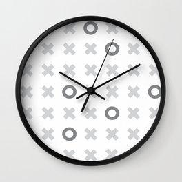 naughts and crosses Wall Clock