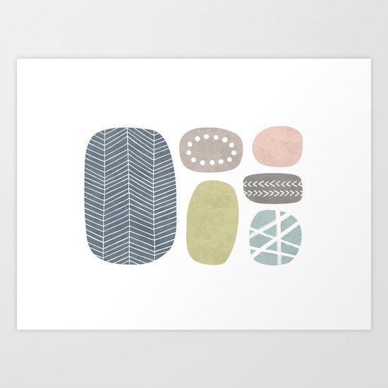 Painted Stones Art Print