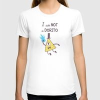 bill cipher T-shirts featuring Bill Cipher Is Not A Dorito  by KasumiBlu
