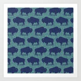 Buffalo Bison Pattern 290 Art Print