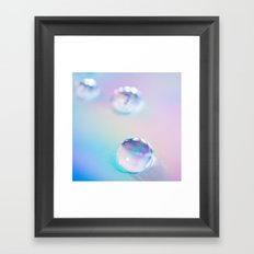 droplets*blue Framed Art Print