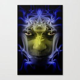 Electric portrait Canvas Print