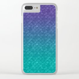 Ariel Mermaid Inspired Purple & Green Clear iPhone Case