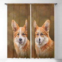 Drawing Dog breed Welsh Corgi Blackout Curtain