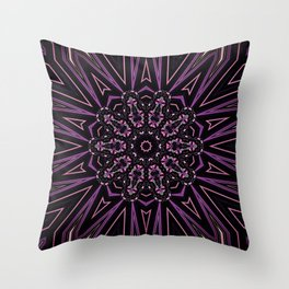 Pretty in Purple (3 of 3) Throw Pillow