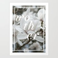 mother Art Prints featuring Mother by .eg.