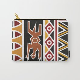 African Tribal Pattern No. 48 Carry-All Pouch