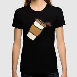 Take it Away Coffee Pattern T-shirt