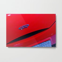 Chery QQ Electric Front Red Metal Print