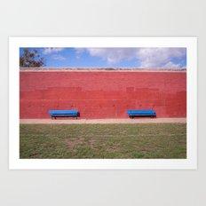 nice bench  Art Print