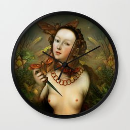 """""""Lucretia between Death Moths"""" Wall Clock"""
