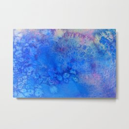 Forget-Me-Not Watercolor Texture Metal Print