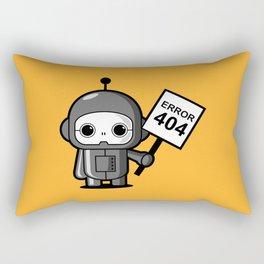 Mini Robot - Error 404 Rectangular Pillow