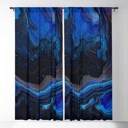 Blue Edged Galaxy Blackout Curtain