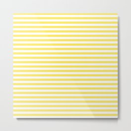 Lemon yellow stripes Metal Print