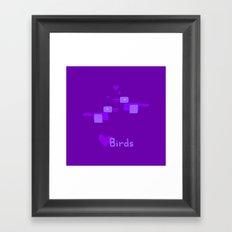 Love Birds-Purple Framed Art Print