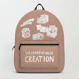 Weapons Of Mass Creation - Photography (white) Backpack