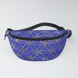 Flower of life pattern - Lapis Lazuli and Gold Fanny Pack