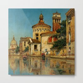 Venice the Golden Painting by George Vivian Metal Print