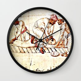 Thugs Strangling Traveller Wall Clock