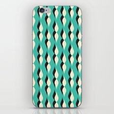turquoise petal lines  iPhone & iPod Skin
