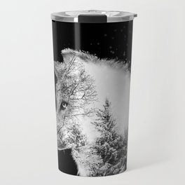 Winter Wolf Travel Mug