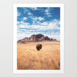 The Lonely Bison, Salt Lake City, Utah-Desert Landscape Art Print