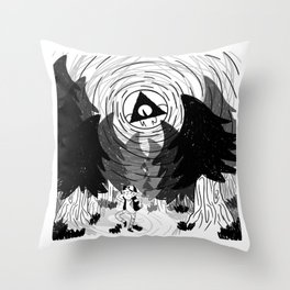 always watching pine tree Throw Pillow