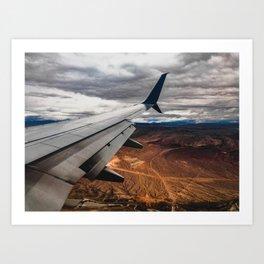 wing over mars Art Print